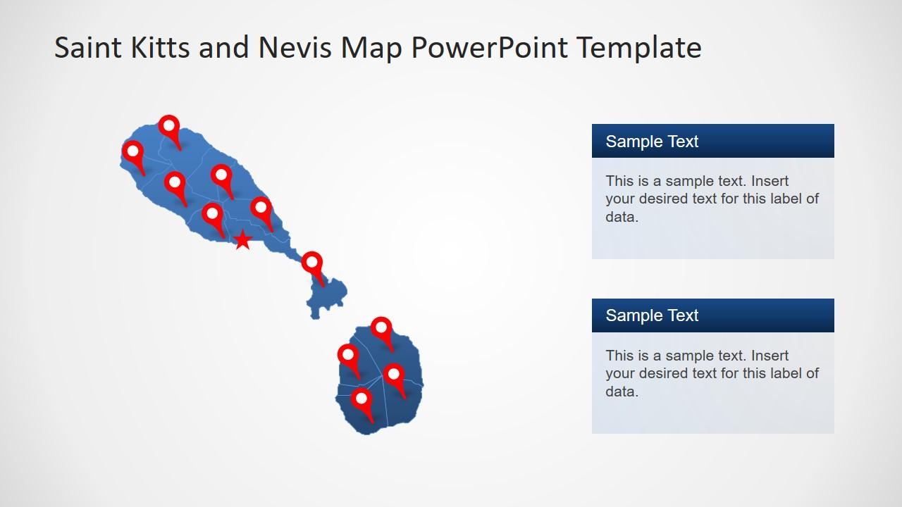 Location Pins Nevis PowerPoint