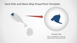 Editable Map Template of Islands