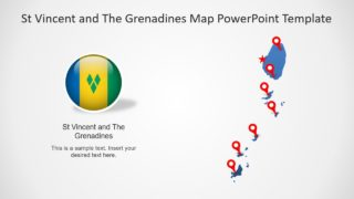 Editable St Vincent and The Grenadines Map PowerPoint Template