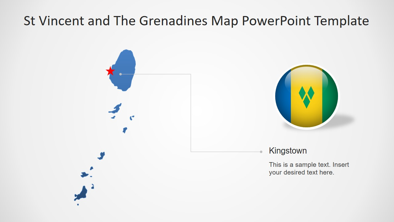Business PowerPoint Map Template