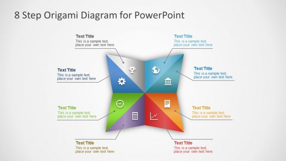 Colorful PowerPoint Origami Diagram