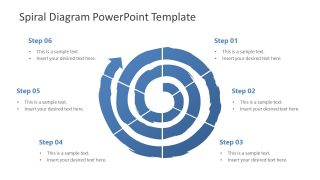 3 Level Spiral Diagram PowerPoint Template