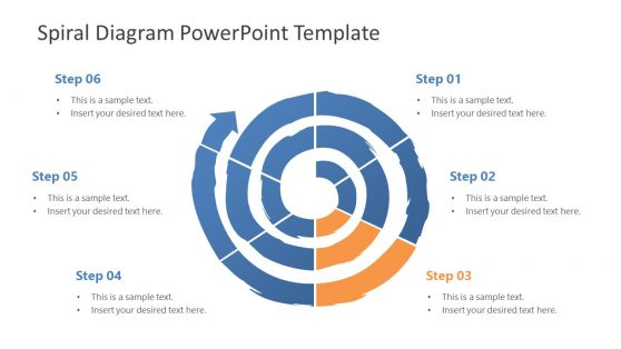 PowerPoint Diagram of Spiral Template