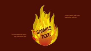 Slide of Flame and Fire