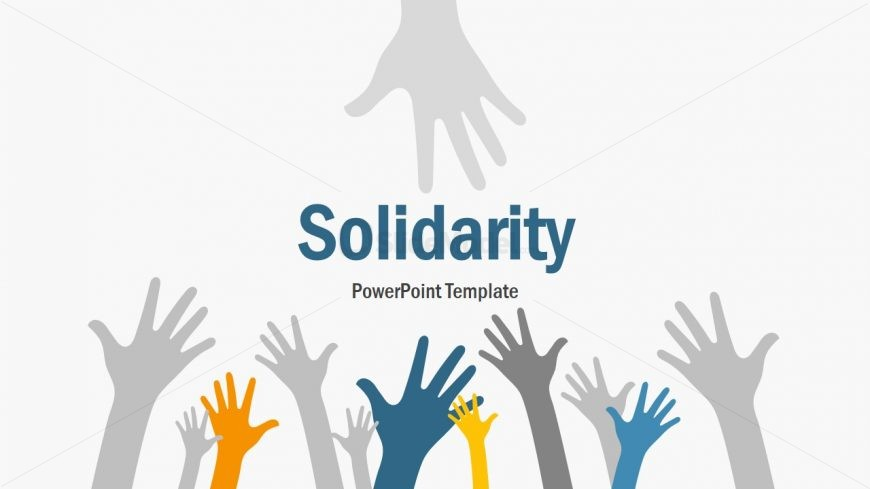 Hand Reaching Out PowerPoint