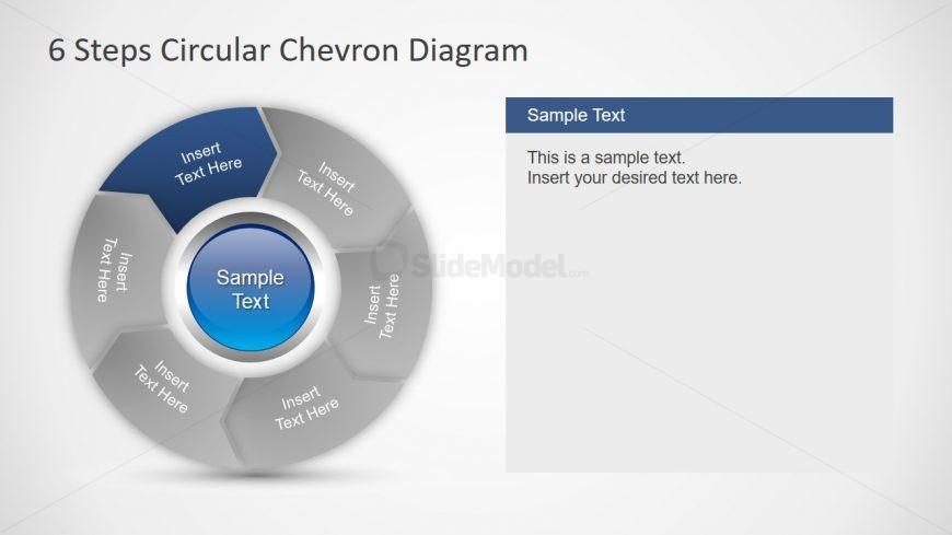 6 Steps Chevron Circular Diagram