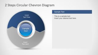 Template of Chevron Circular Diagram