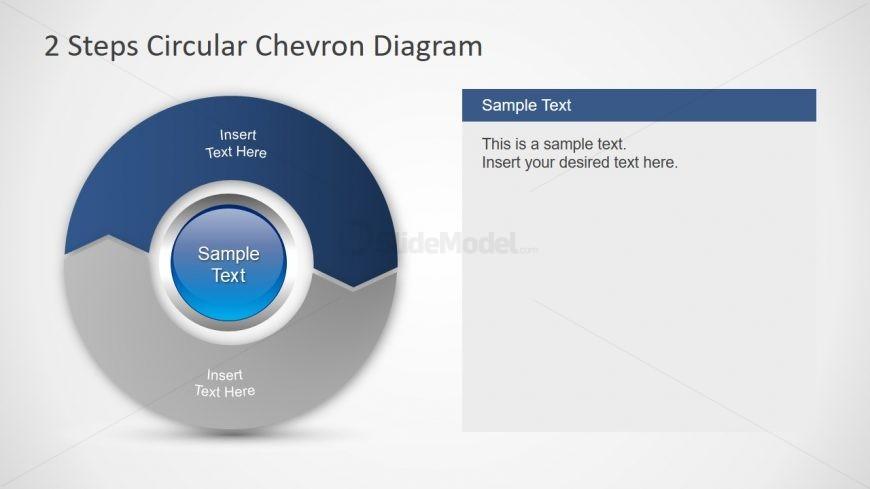 Template of Chevron Circular Diagram