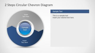 PPT Chevron Circular Digram