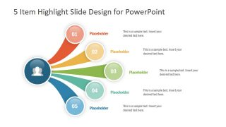 5 Item Highlight Slide PowerPoint Template