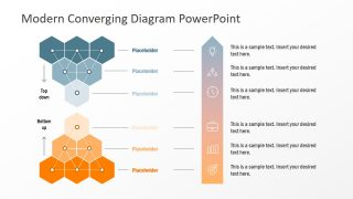 Top Down Bottom Up Converging Diagram for PowerPoint