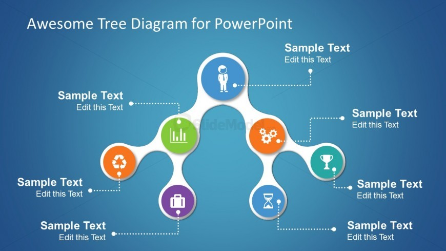 Simple Tree Diagrams Data Structure with Icons