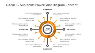 4 Item 12 Sub-Item PowerPoint Diagram