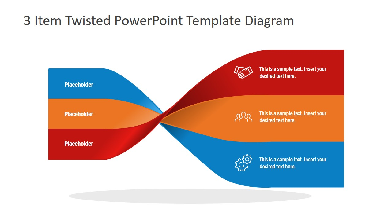 Flat PowerPoint 3 Steps Diagram