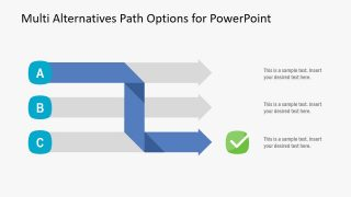 Multi Alternatives Path Options PowerPoint Template