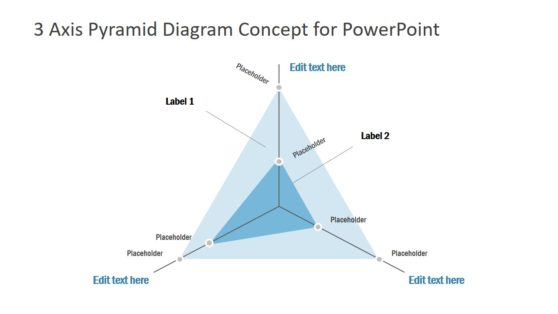 2 Level 3 Axis PowerPoint Diagram