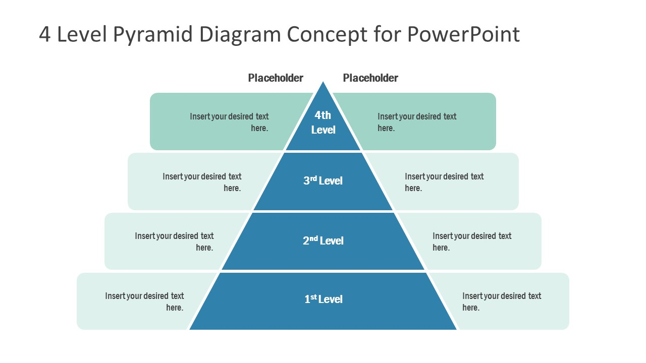 Template of Pyramid Diagram 4 Level