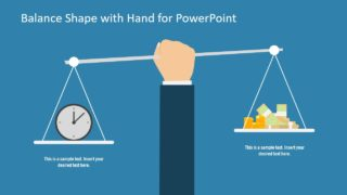 Balance Shape with Hand PowerPoint Template