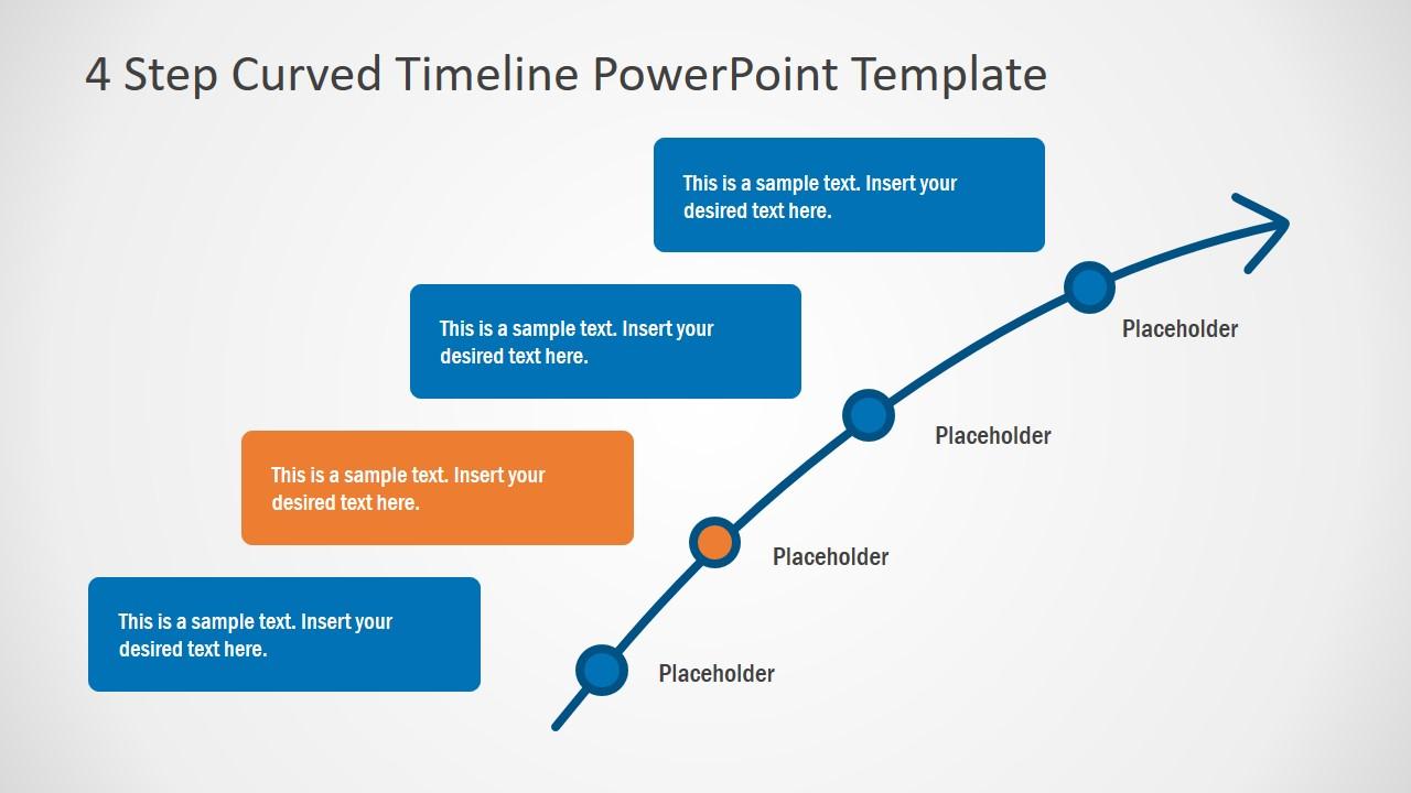 PPT Flat Timeline Template