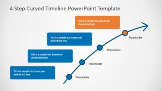 Editable 4 Steps PowerPoint Timeline