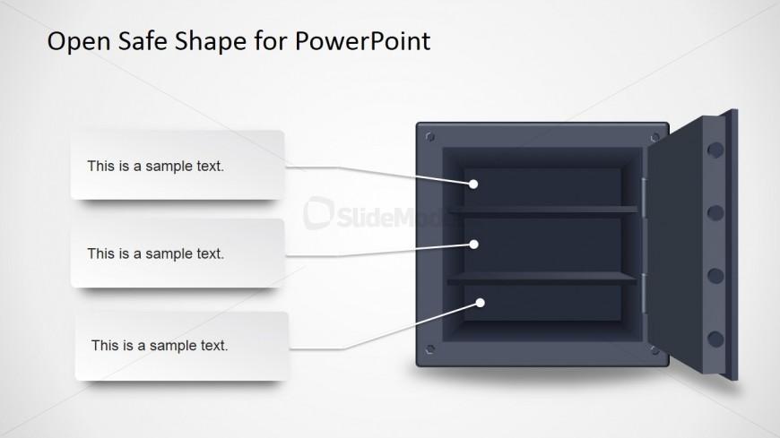 Open Safe Clipart Slide Design for PowerPoint