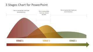 3 Steps PowerPoint Data Graph