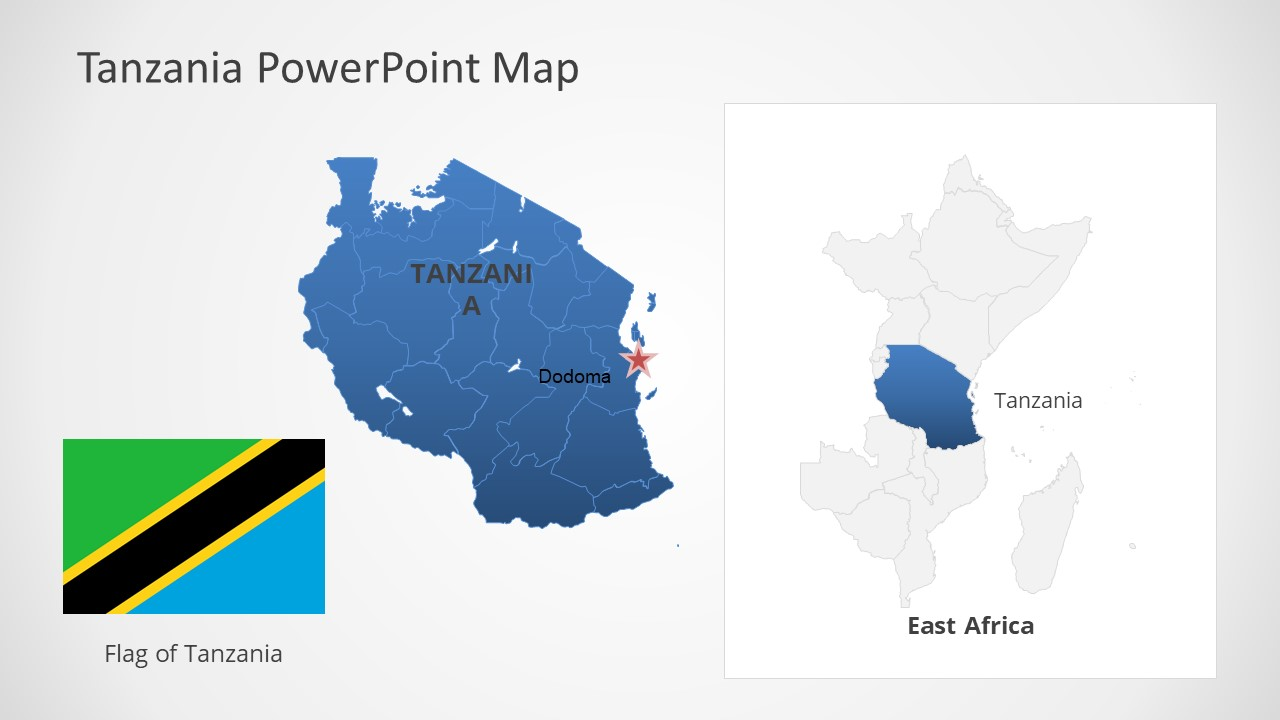 Template of Tanzania Map Outline