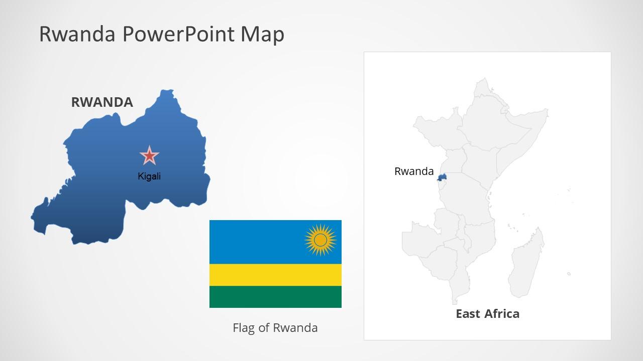 Template of Rwanda Map Outline