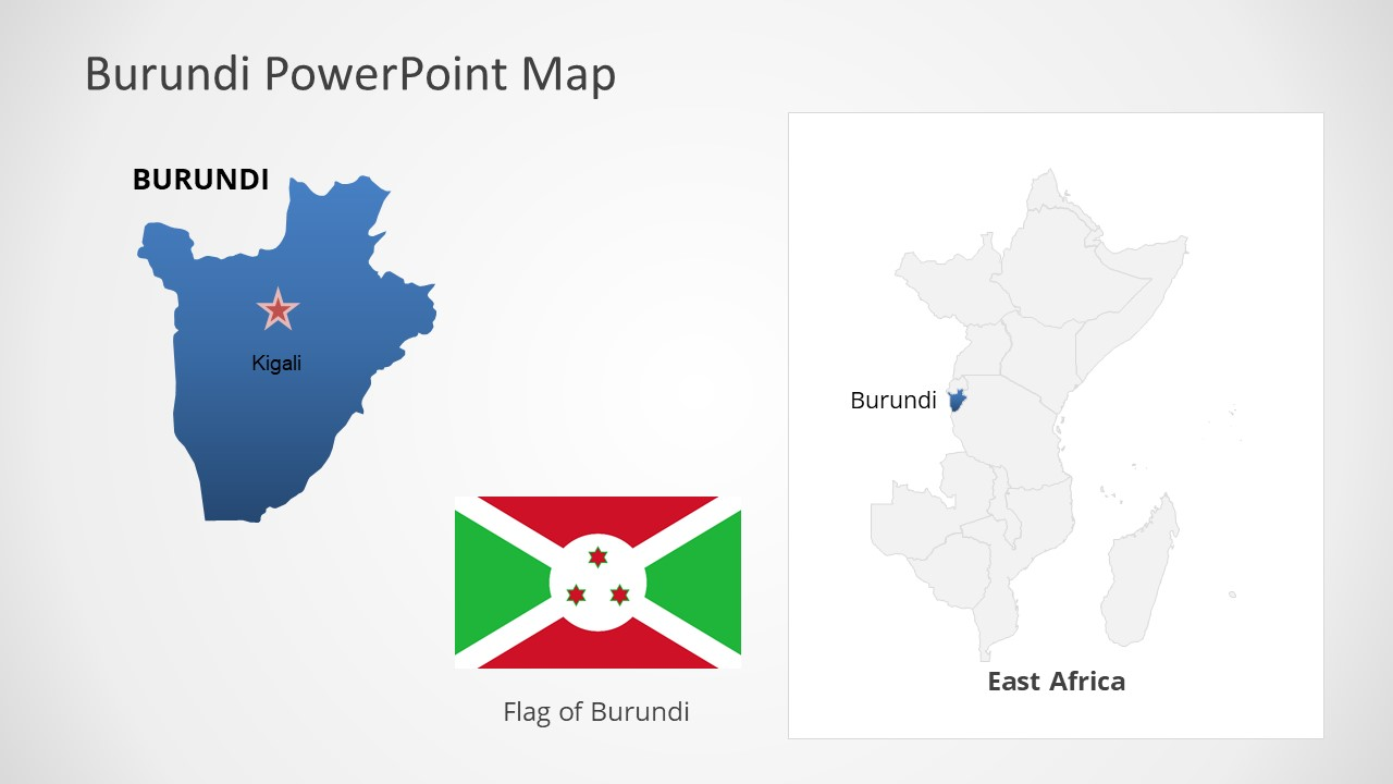 Template of Burundi Map Outline
