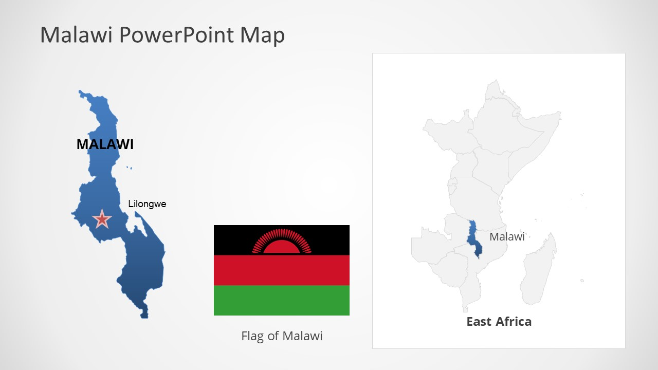 Template of Malawi Map Outline
