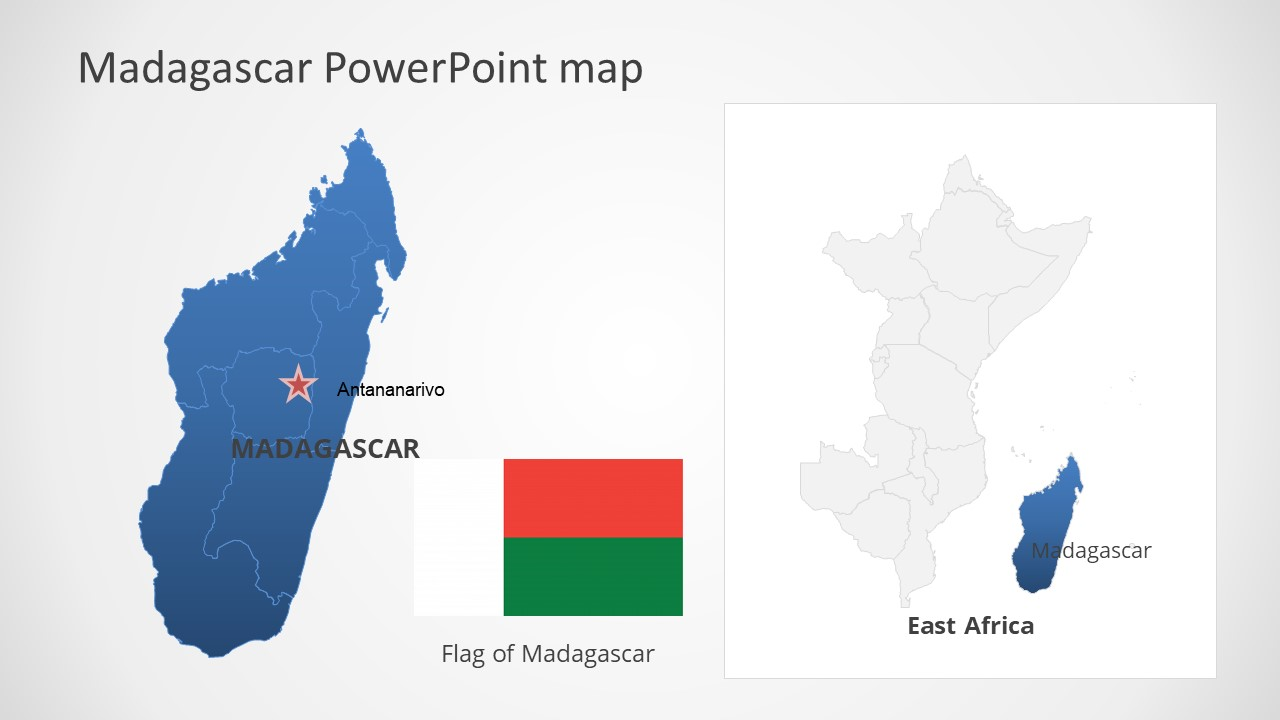 Template of Madagascar Map Outline