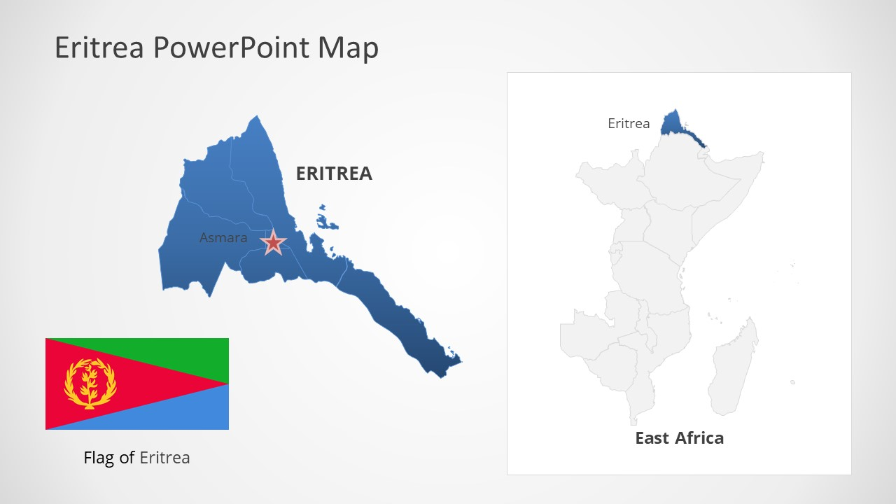 Template of Eritrea Map Outline