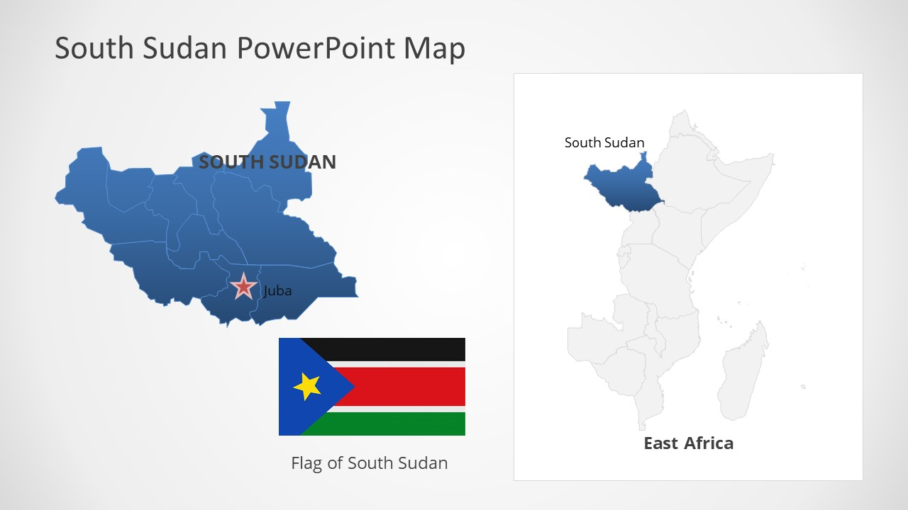 Template of South Sudan  Map Outline