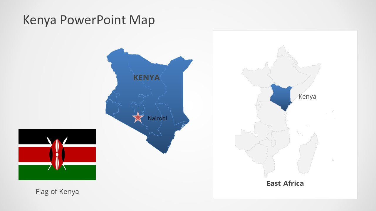 Template of Kenya Map Outline