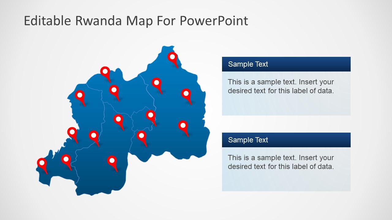 Outline PowerPoint Rwanda Map