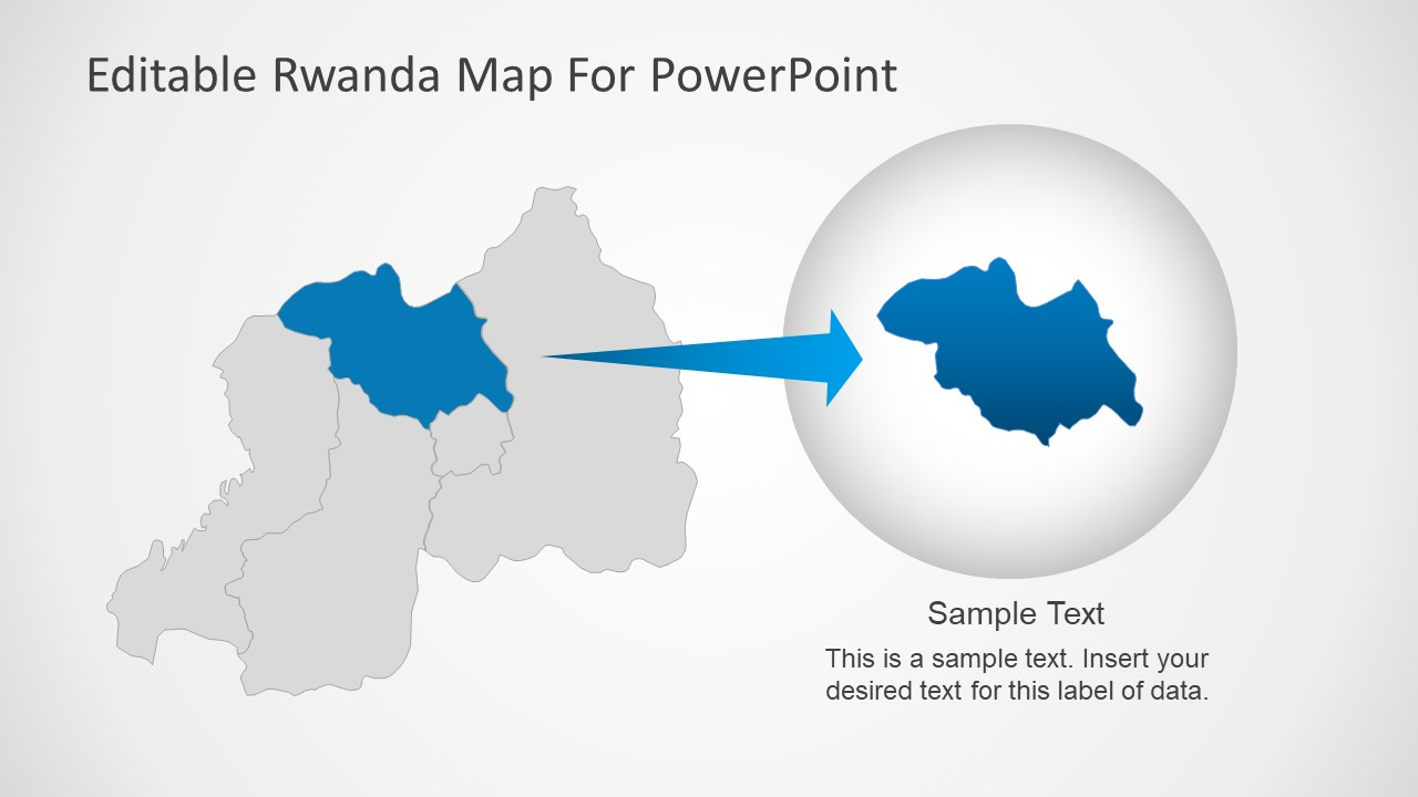 Slide of Rwanda Editable Map Template