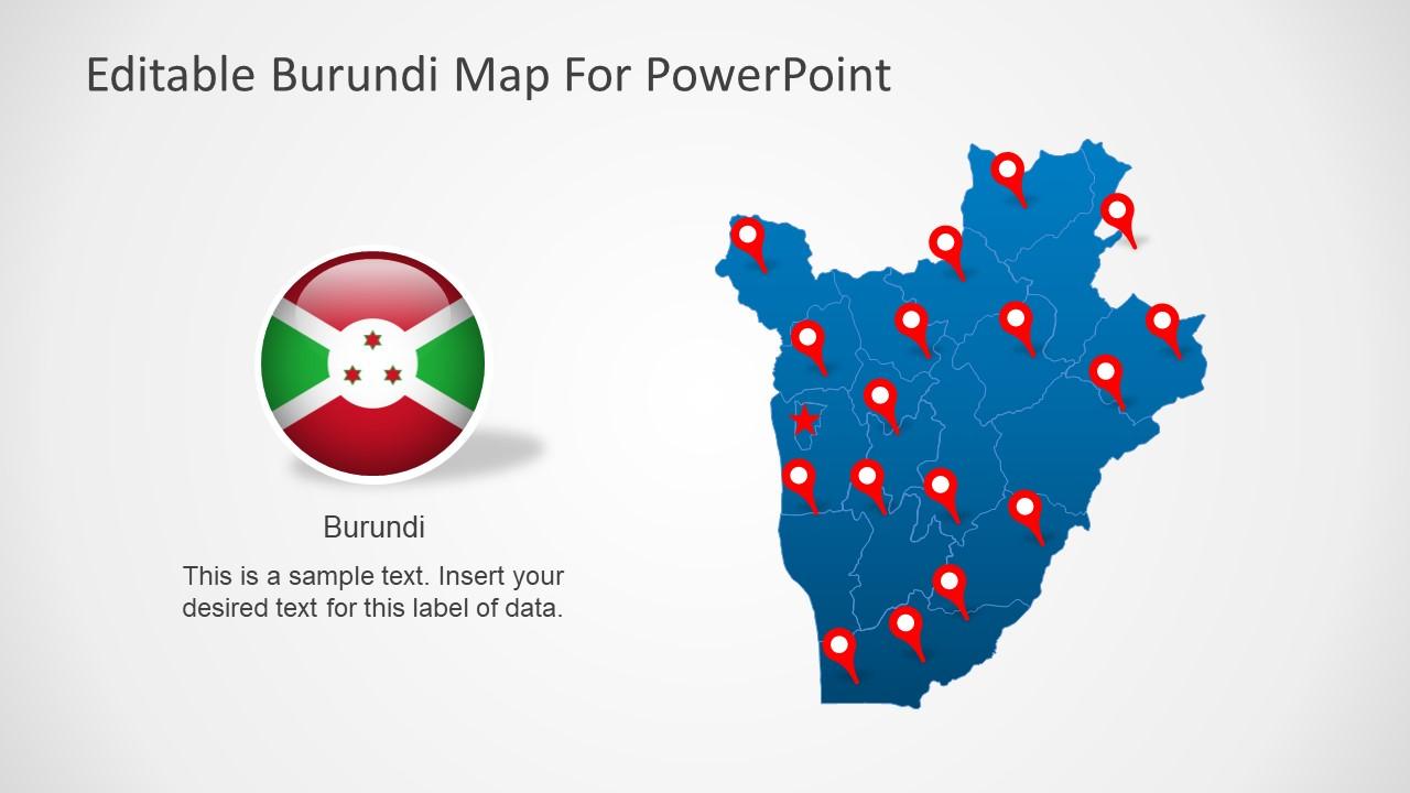 Burundi Editable Map Template