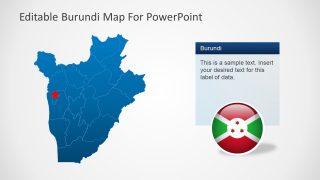 Burundi Map of Provinces PPT
