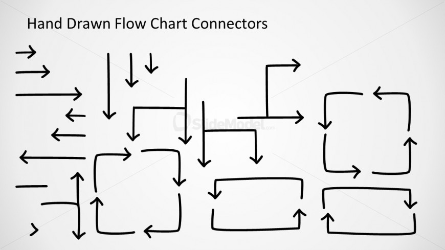 flow chart connectors design for powerpoint