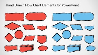Sketched Flow Chart Symbols for PowerPoint