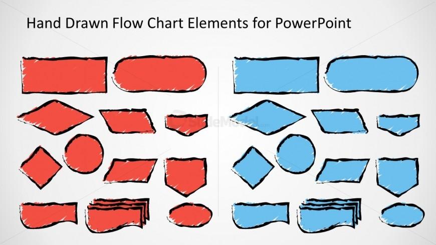 Sketched Flow Chart Symbols For Powerpoint Slidemodel