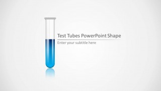Blue Test Tube PowerPoint Template