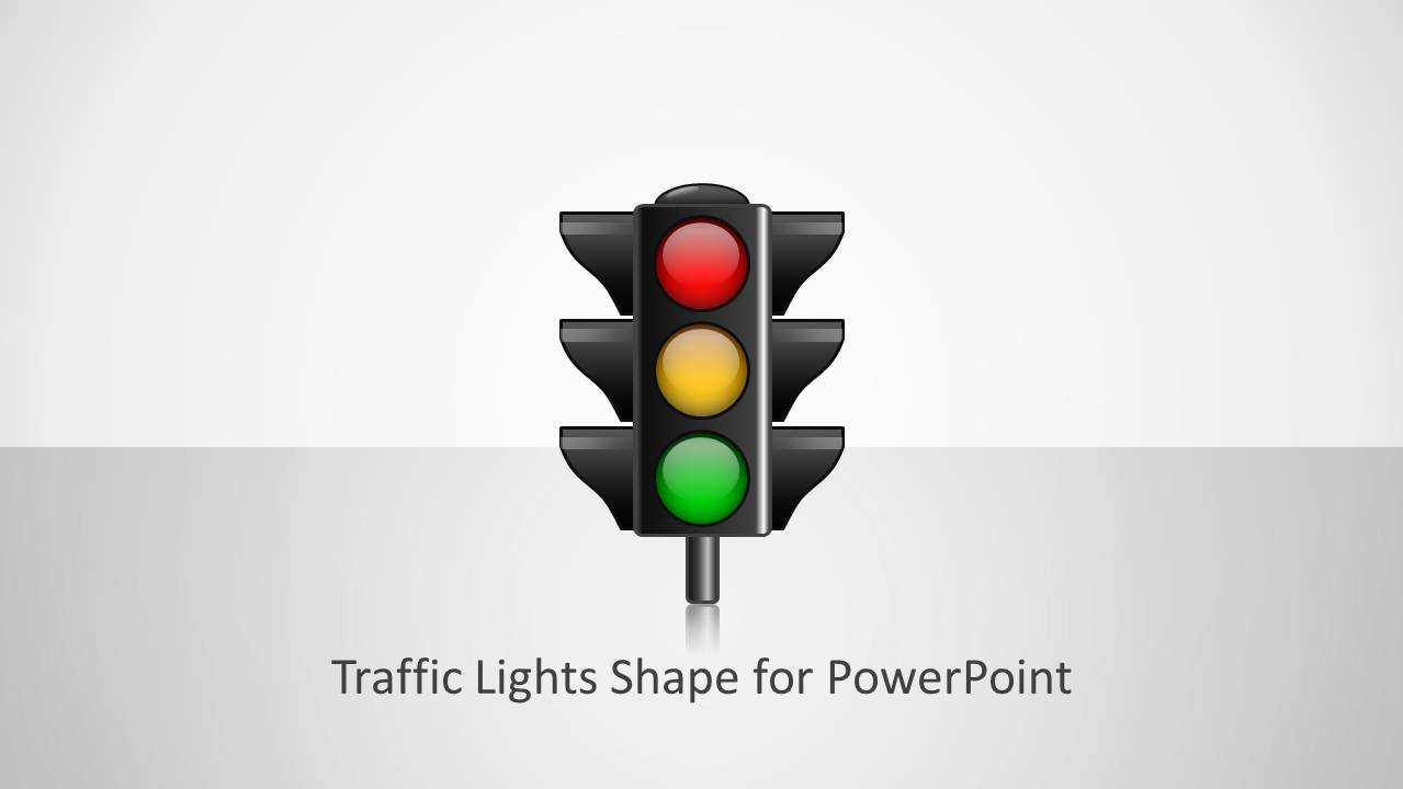 traffic lights shape for powerpoint