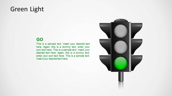 Traffic Lights for PowerPoint Go Green Light