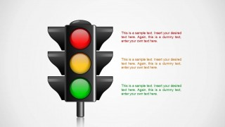 3 Traffic Light Illustration Shape for PowerPoint