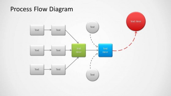 Process Flow Diagram Slide Design for PowerPoint