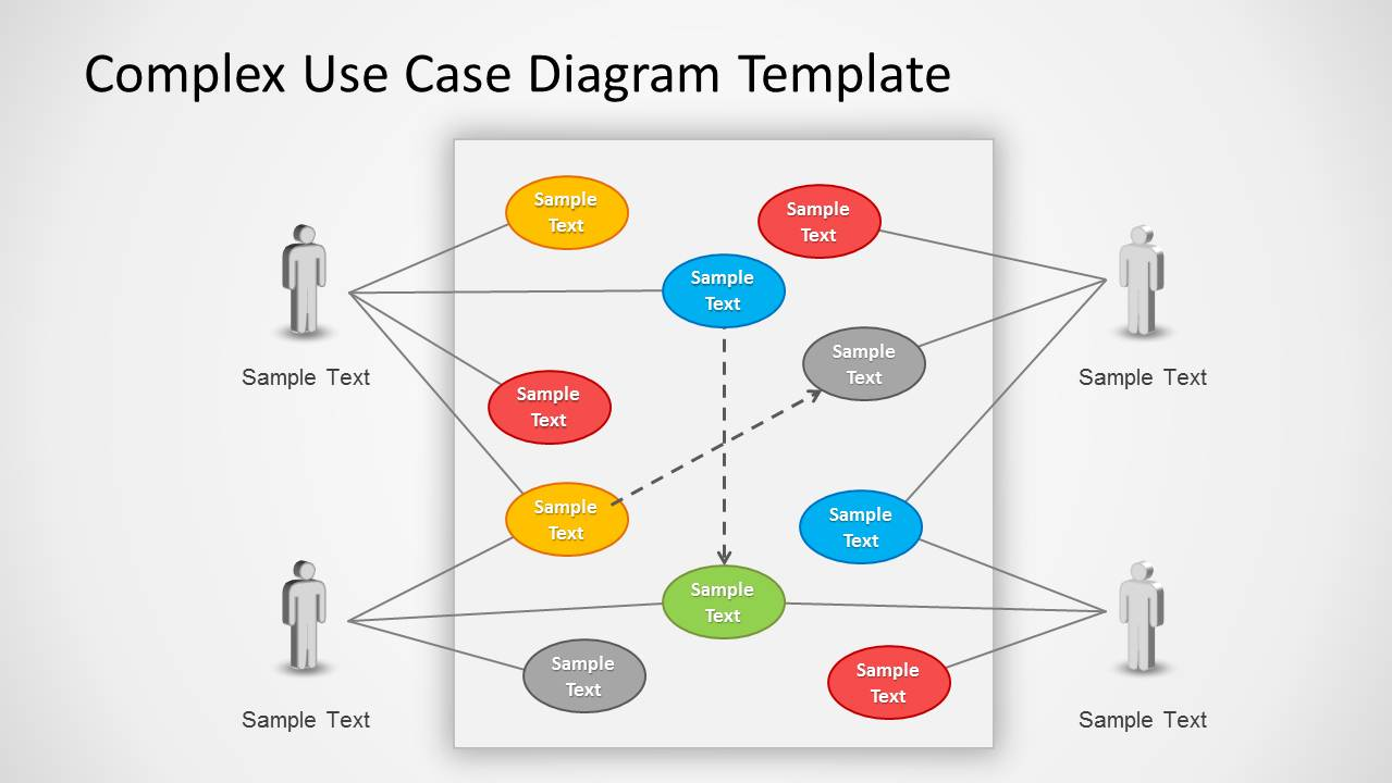 use case powerpoint diagram   slidemodel    complex use case diagram example for powerpoint slide design