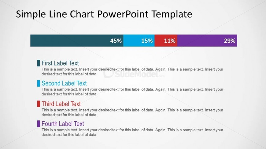 Simple Line Chart PowerPoint Slide Design