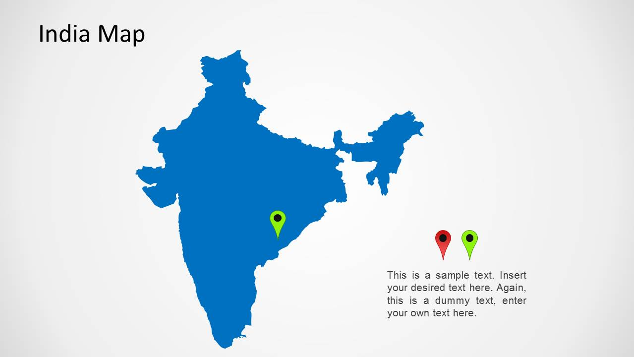 India map for powerpoint slidemodel for India map ppt template
