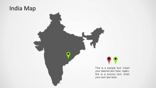 India Map For PowerPoint SlideModel - Map for powerpoint presentation